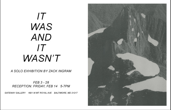Zack Ingram exhibition postcard